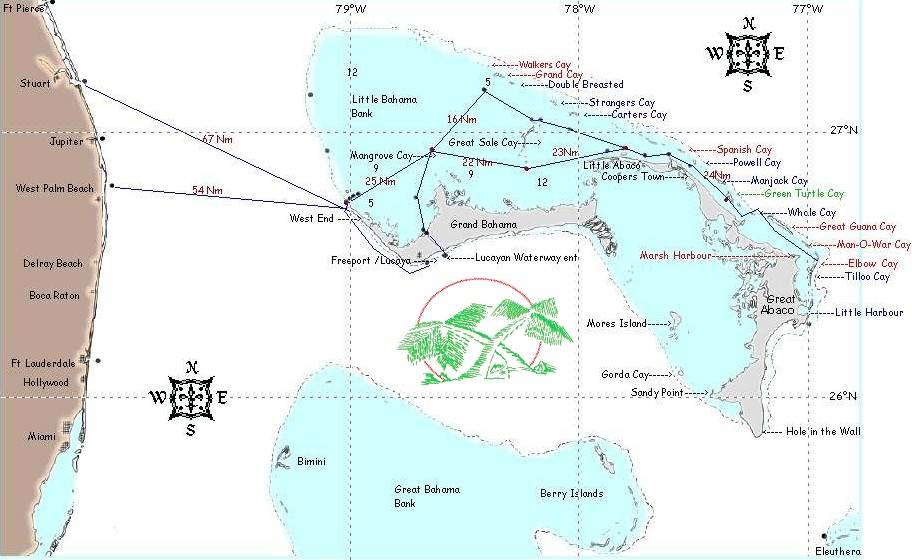 Abaco bahamas a vacation guide directory and resource nautical chart publicscrutiny Images