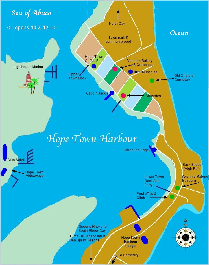 Vacation Resource Guide to Hope Town Abaco Bahamas Elbow Cay